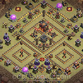 TH10 Max Levels War Base Plan with Link, Copy Town Hall 10 Design 2020, #8