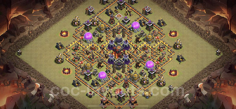 TH10 Anti 2 Stars War Base Plan with Link, Copy Town Hall 10 Design 2021, #40