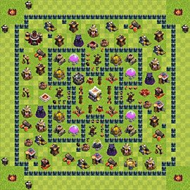 Base plan Town Hall level 11 for trophies (defence) (variant 11)