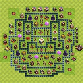 Base plan Town Hall level 11 for trophies (defence) (variant 13)