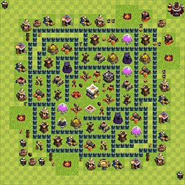 Base plan Town Hall level 11 for trophies (defence) (variant 15)