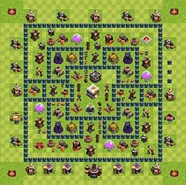 Base plan Town Hall level 11 for trophies (defence) (variant 3)