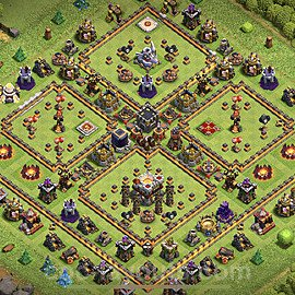 TH11 Anti 3 Stars Base Plan with Link, Copy Town Hall 11 Base Design 2020, #32