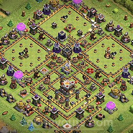 TH11 Trophy Base Plan with Link, Copy Town Hall 11 Base Design 2020, #33