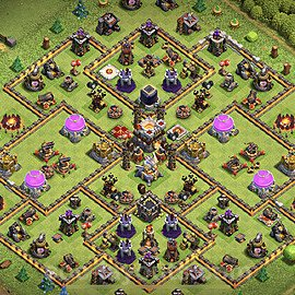 Anti Dragon TH11 Base Plan with Link, Copy Town Hall 11 Anti Air Design 2020, #35