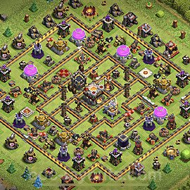 Top TH11 Unbeatable Anti Loot Base Plan with Link, Copy Town Hall 11 Base Design 2020, #37