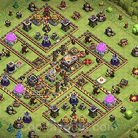 Anti Everything TH11 Base Plan with Link, Copy Town Hall 11 Design 2020, #39