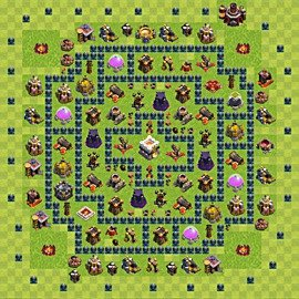 Base plan Town Hall level 11 for trophies (defence) (variant 4)