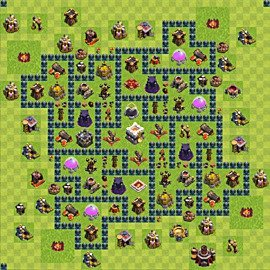 Base plan Town Hall level 11 for trophies (defence) (variant 5)