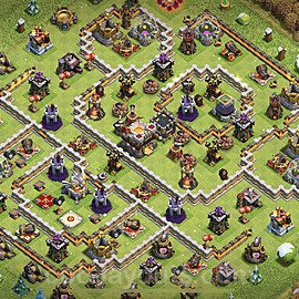 TH11 Trophy Base Plan with Link, Copy Town Hall 11 Base Design 2021, #50