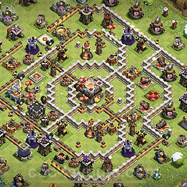 TH11 Anti 3 Stars Base Plan with Link, Copy Town Hall 11 Base Design 2021, #52