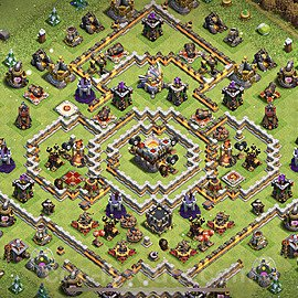 TH11 Anti 2 Stars Base Plan with Link, Copy Town Hall 11 Base Design 2021, #54