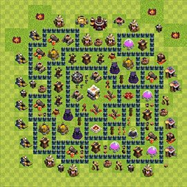 Base plan Town Hall level 11 for trophies (defence) (variant 6)