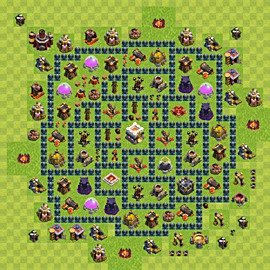 Base plan Town Hall level 11 for trophies (defence) (variant 9)