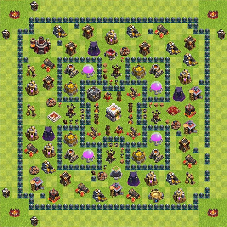 Base plan (layout) for trophies collecting TH  11 (Town Hall level 11, TH 11), variant 11