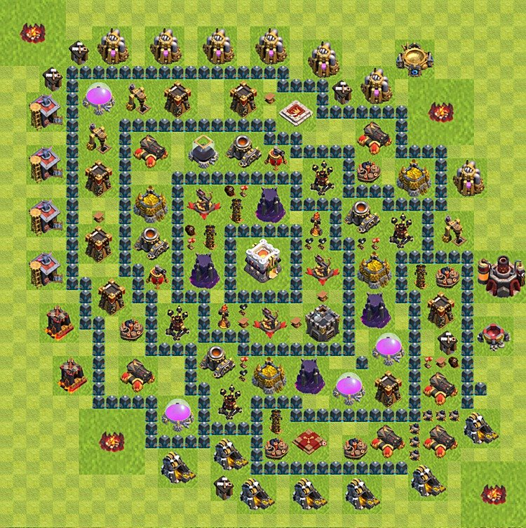 Base plan (layout) for trophies collecting TH  11 (Town Hall level 11, TH 11), variant 12