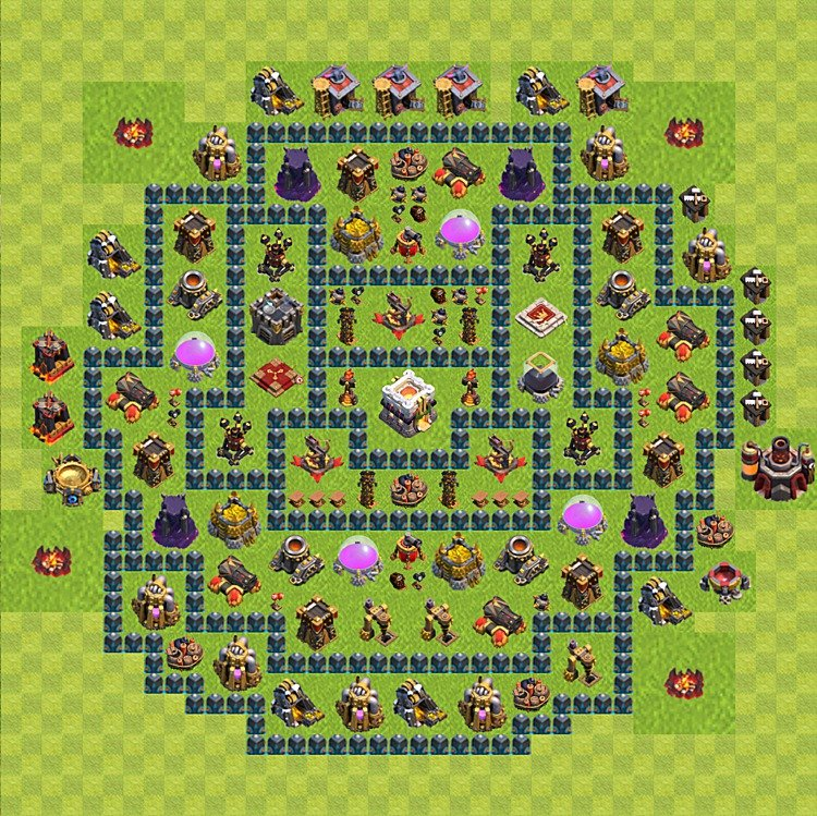 Base plan (layout) for trophies collecting TH  11 (Town Hall level 11, TH 11), variant 13