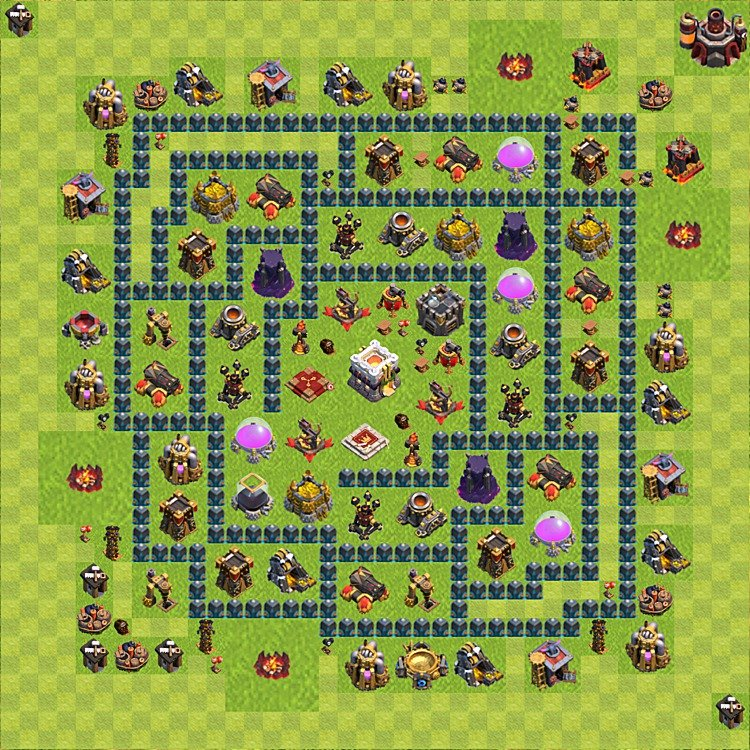 Base plan (layout) for trophies collecting TH  11 (Town Hall level 11, TH 11), variant 15