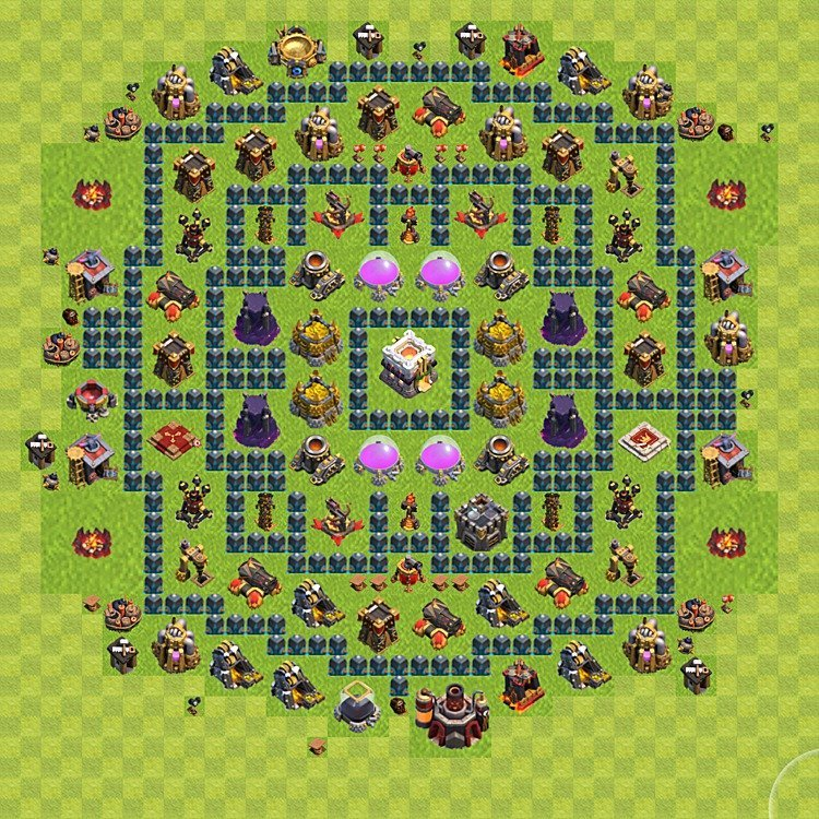 clash of clans расстановка th11