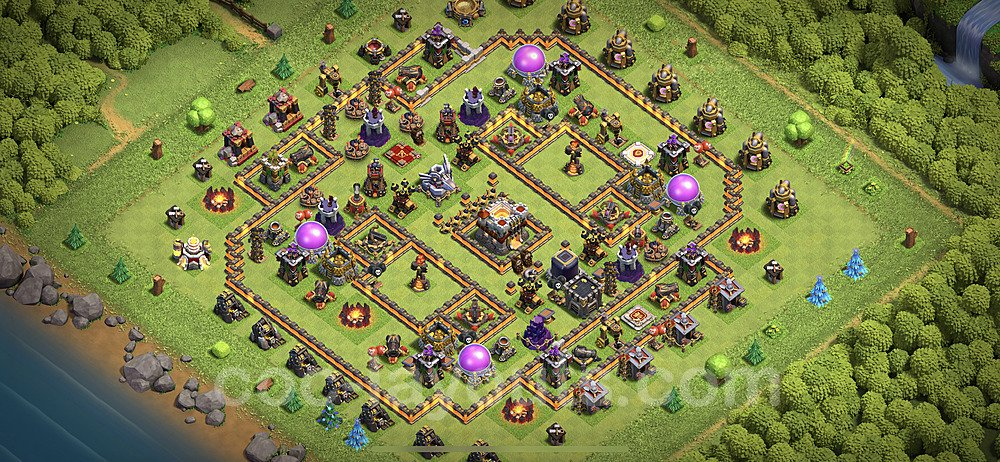 TH11 Anti 2 Stars Base Plan with Link, Copy Town Hall 11 Base Design 2020, #38