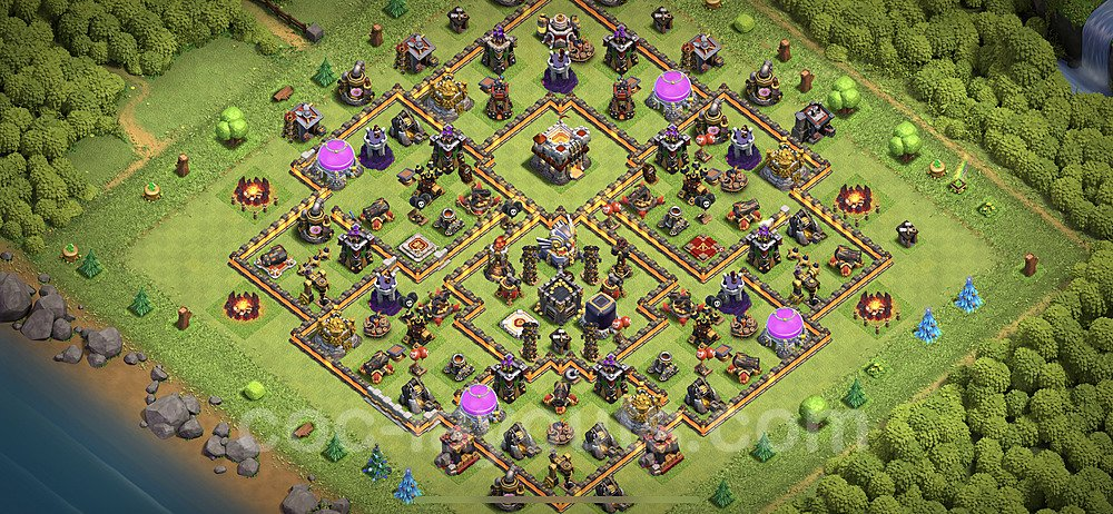 Anti Everything TH11 Base Plan with Link, Copy Town Hall 11 Design 2020, #43