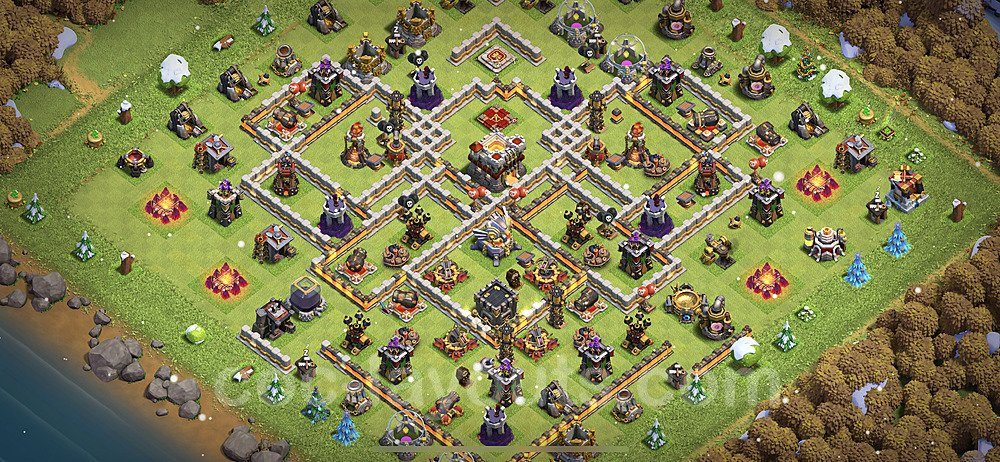 TH11 Anti 2 Stars Base Plan with Link, Copy Town Hall 11 Base Design 2021, #53