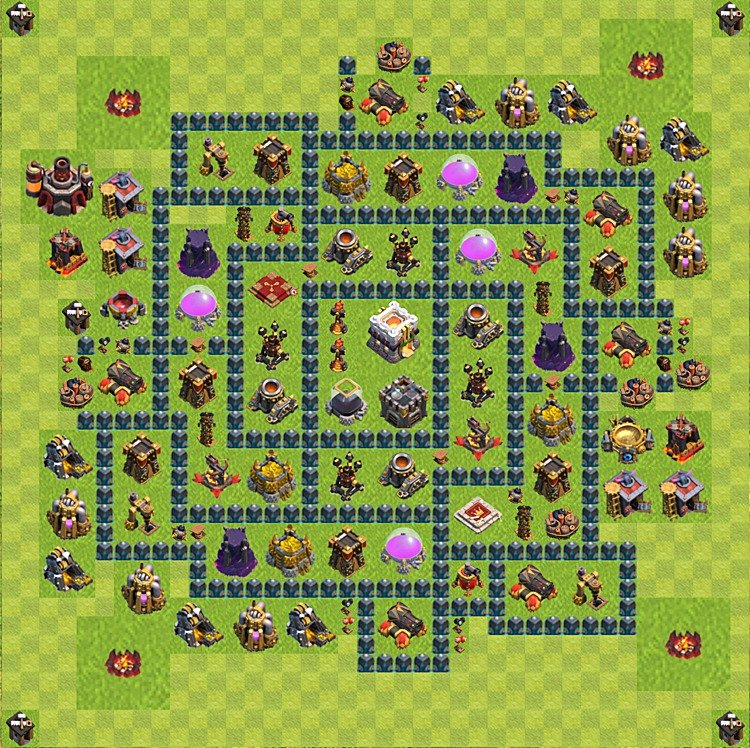 Base plan (layout) for trophies collecting TH  11 (Town Hall level 11, TH 11), variant 7