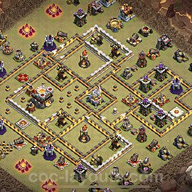 TH11 War Base Plan with Link, Copy Town Hall 11 CWL Design 2021, #20