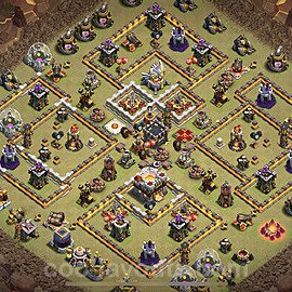 TH11 War Base Plan with Link, Copy Town Hall 11 CWL Design 2021, #21