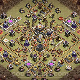 TH11 War Base Plan with Link, Copy Town Hall 11 CWL Design 2021, #23