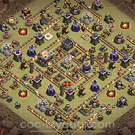 TH11 War Base Plan with Link, Copy Town Hall 11 Design 2020, #3