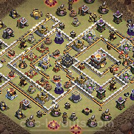TH11 War Base Plan with Link, Copy Town Hall 11 Design 2021, #39