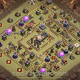 TH11 War Base Plan with Link, Copy Town Hall 11 Design 2020, #4