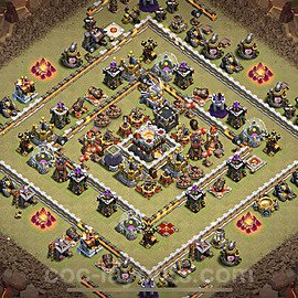 TH11 Anti 3 Stars War Base Plan with Link, Copy Town Hall 11 Design 2021, #40
