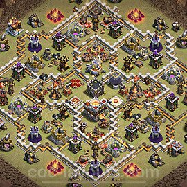 TH11 Anti 3 Stars War Base Plan with Link, Copy Town Hall 11 Design 2021, #41