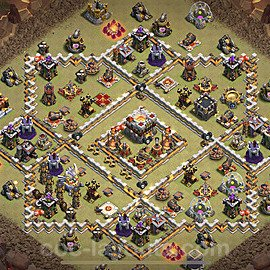 TH11 Anti 3 Stars War Base Plan with Link, Copy Town Hall 11 Design 2021, #42