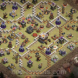 TH11 War Base Plan with Link, Copy Town Hall 11 Design 2021, #44