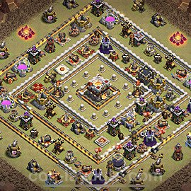 TH11 Anti 3 Stars War Base Plan with Link, Copy Town Hall 11 Design 2021, #45