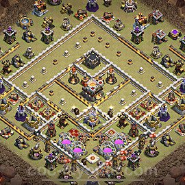 TH11 Anti 2 Stars War Base Plan with Link, Copy Town Hall 11 Design 2021, #46