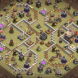TH11 War Base Plan with Link, Copy Town Hall 11 Design 2021, #47