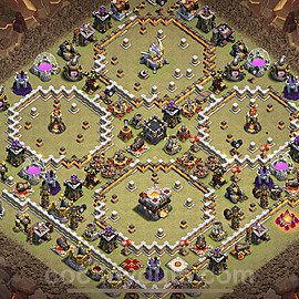 TH11 War Base Plan with Link, Copy Town Hall 11 Design 2021, #48