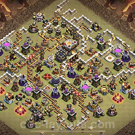 TH11 War Base Plan with Link, Copy Town Hall 11 Design 2021, #49