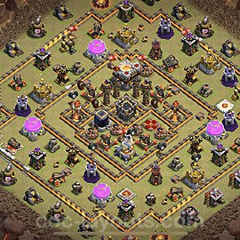 TH11 Anti 2 Stars War Base Plan with Link, Copy Town Hall 11 Design 2020, #5