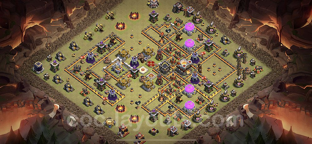 TH11 War Base Plan with Link, Copy Town Hall 11 Design 2020, #10