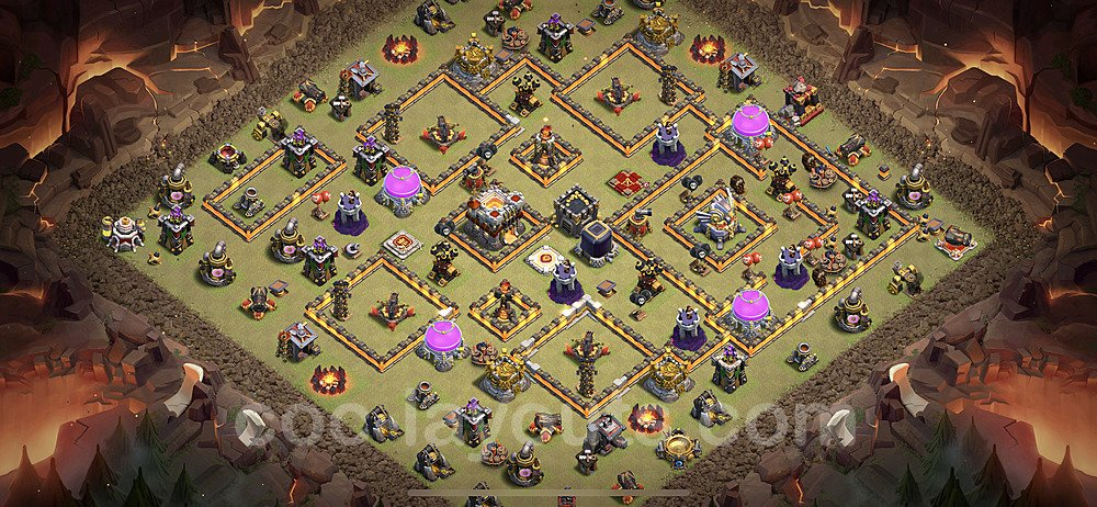 TH11 Anti 3 Stars War Base Plan with Link, Copy Town Hall 11 Design 2020, #11