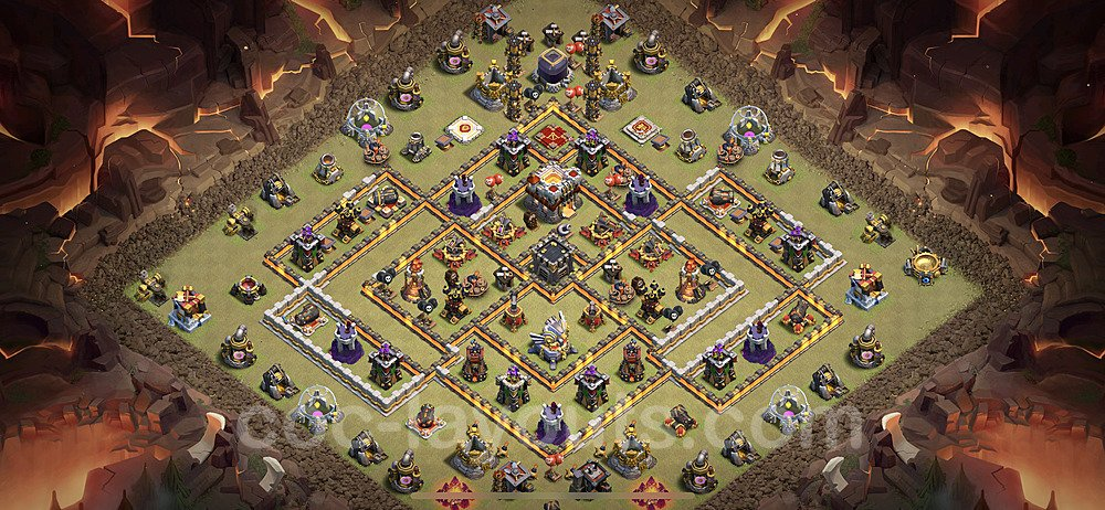 TH11 Anti 3 Stars War Base Plan with Link, Copy Town Hall 11 Design 2021, #25