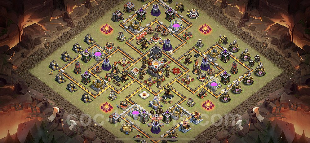 TH11 Anti 2 Stars War Base Plan with Link, Copy Town Hall 11 Design 2021, #27