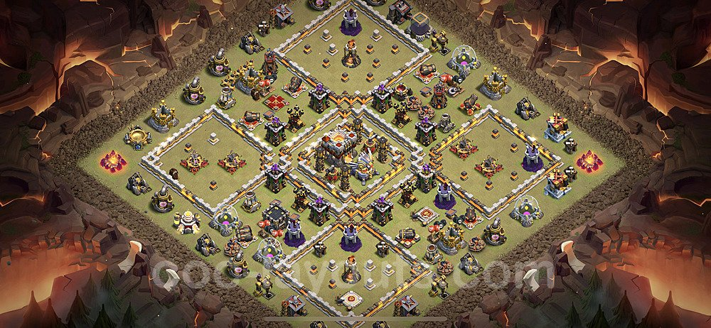 TH11 War Base Plan with Link, Copy Town Hall 11 Design 2021, #43