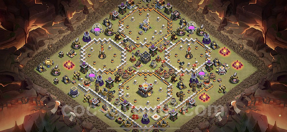 Die Clan War Base RH11 + Link 2021 - COC Rathaus Level 11 Kriegsbase (CK / CW) - #48