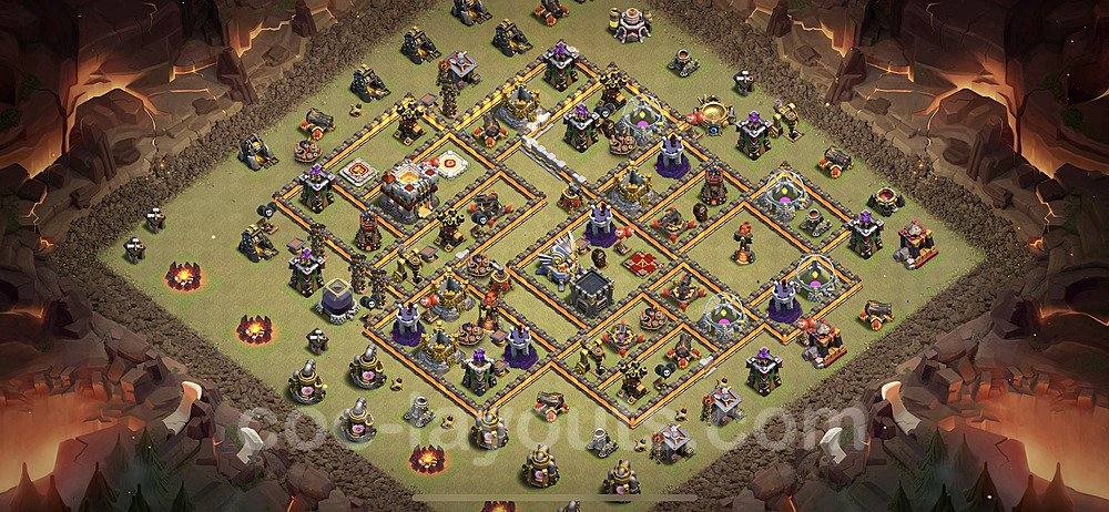 TH11 War Base Plan with Link, Copy Town Hall 11 Design 2020, #8